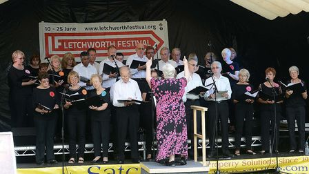 Proms in the Park, the culmination of the Letchworth Festival. Picture: Alan Millard