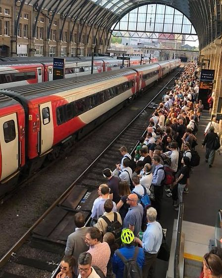 Overcrowding at London's Kings Cross station last July. Picture: Jason Flynn