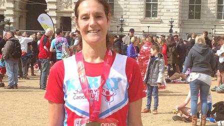 Kerry Kitchener from Letchworth completed the race in 3h 49m 36s. Picture: Courtesy of Kerry Kitchen