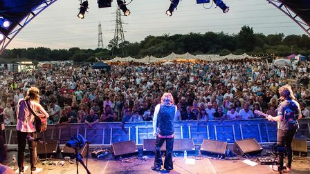 The Counterfeit Stones performing at the first Todd in the Hole Festival. Picture: Grant McGonagle