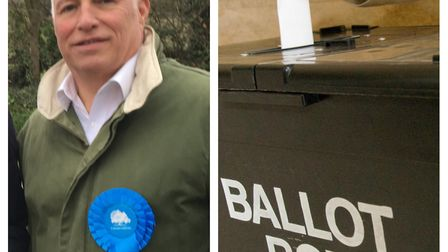 Conservative Cadwell candidate Michael Goddard has been suspended over posts he shared on Facebook.