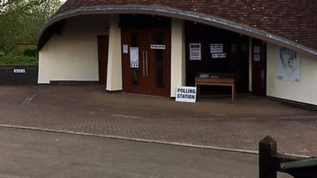 The chapel at Weston Road Cemetery is being used as a polling station today. Picture: Bev Argent