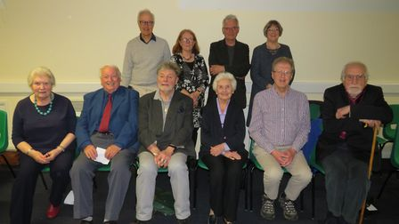 Arts Council officers and committee gathered for the final meeting. Picture: Lisa Foreman