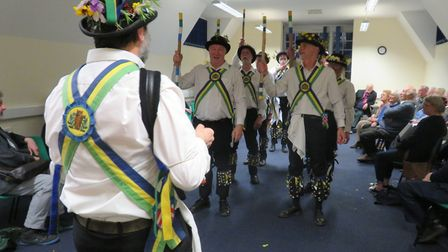 The Letchworth Morris Men performed at the Arts Council for North Herts' last EGM last week. Picture