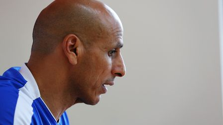 Manager of Stevenage FC Dino Maamria speaks to The Comet's Dan Mountney ahead of the match against C