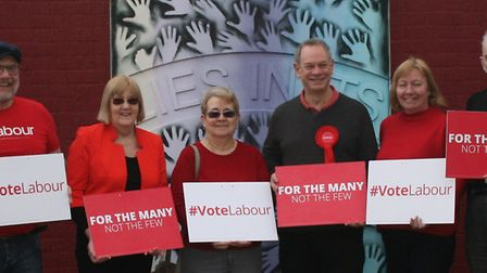 Stevenage's Labour candidates for the May 2019 local elections at Stevenage Borough Council. Picture