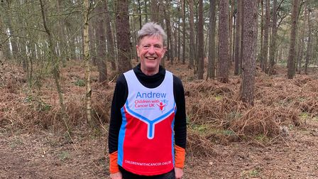 Andrew Porter will run the London Marathon on Sunday in aid of Children with Cancer UK. Picture: Nor