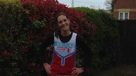 Kerry Kitchener from Letchworth is taking on the London Marathon in aid of Children with Cancer UK.
