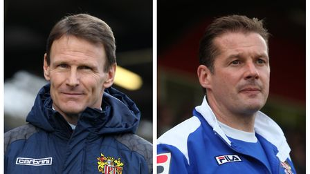 Teddy Sheringham (left) and Graham Westley are set to return to the Lamex for Ronnie Henry's testimo