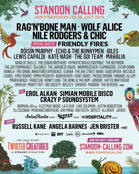 The Standon Calling 2019 line-up will be headlined by Rag 'n' Bone Man, Wolf Alice and the legendary