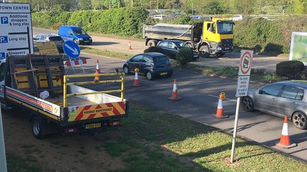 Roadworks in Stevenage's Lytton Way (pictured) and Gunnels Wood Road have been causing delays. Pictu