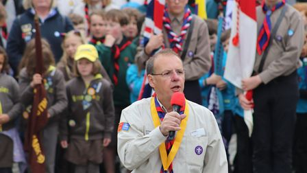 Hitchin Scouts St George's Day Parade 2019. Picture: Tom Hankin