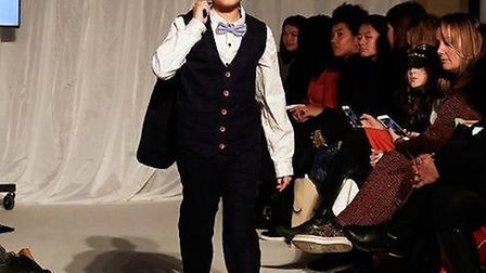 Alfie Aldridge from Letchworth modelled for Little Lord & Lady at London Fashion Week. Picture: Emma