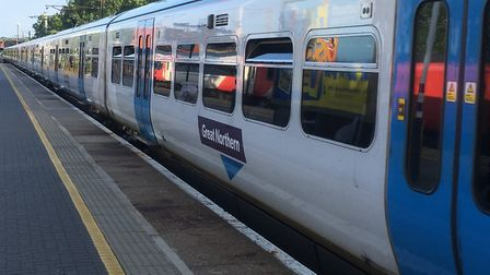 Train services between Peterborough and Hitchin are disrupted due to a signalling fault. Picture: Ni
