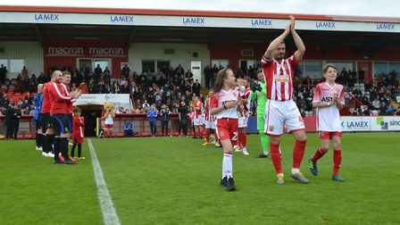 Ronnie Henry was given a guard of honour at the Lamex ahead of his testimonial on Monday. Picture: J