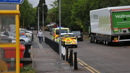 Officers responded to a concern for welfare incident in Primett Road, Stevenage this afternoon. Pict