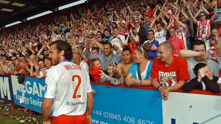 Lawrie Wilson takes the applause of the Lamex crowd. Picture: Daniel Wilson