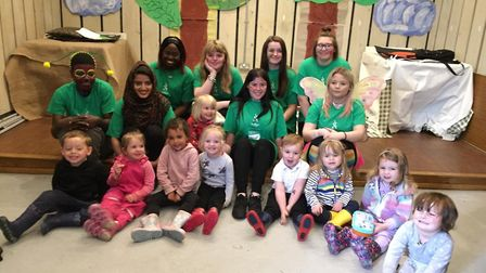 Children from The Glebe Nursery in Letchworth enjoyed a performance of the Very Hungry Caterpillar b