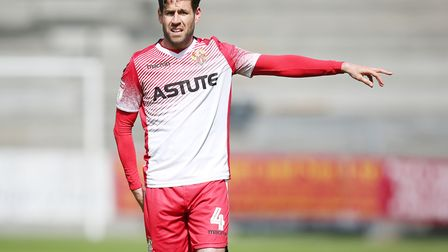 Michael Timlin of Stevenage in the League Two game between Stevenage FC v Cheltenham Town at the Lam