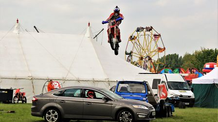 The stunt riders at the Stotfold Mill Steam Fair 2017. Picture: Clive Porter
