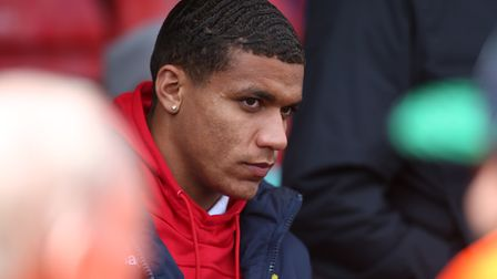 Luther Wildin of Stevenage in the crowd before the League Two game between Stevenage FC v Cheltenham