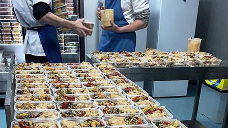 Rice n Spice meals being boxed up at their Hitchin warehouse. Picture: Rice n Spice