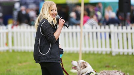 Lucy Heath teaches visitors the secrets to obedience training at DogFest 2019 at Knebworth House. Pi