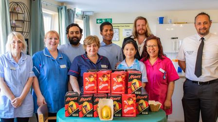 Nurses in Stevenage were all smiles when they got their eggs. Picture: Damien Hillier