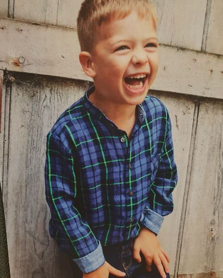 Ollie is now a thriving five-year-old. Picture courtesy of Hayley Edwards.