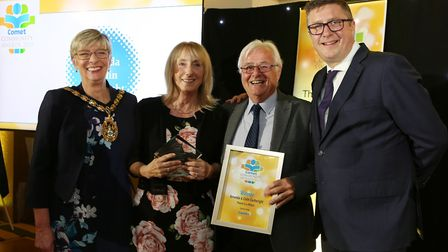 Comet Community Awards 2019: Amanda & Colin Cartwright, our Parent in a Million with Stevenage Mayor