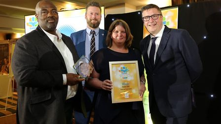 Comet Community Awards 2019: Great and Green winner Hayley Sarll, with sponsors Steven Eagell Toyota