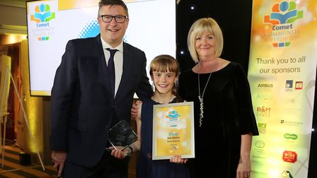 Comet Community Awards 2019: Holly Manning, our Charity Champion with Natalie Gordon from sponsors A
