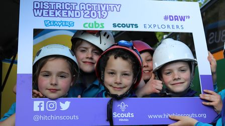 Scouts aged between five and 18 enjoyed the various activities on offer. Picture: Tom Hankin