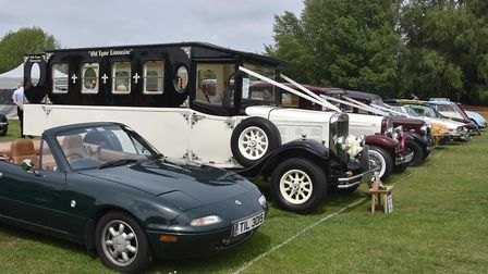 Classic cars on display at Walsworth Festival. Picture: Alan J Millard