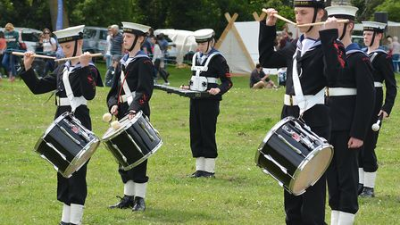 Hitchin Sea Cadets Marching Band perform at Walsworth Festival. Picture: Alan J Millard