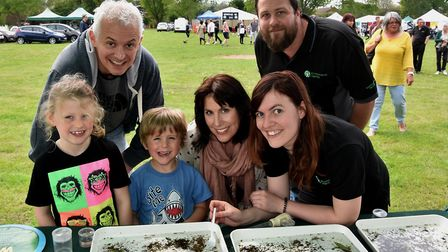 Children looked for bugs in the River Purwell with the help of the Environment Agency. Picture: Alan