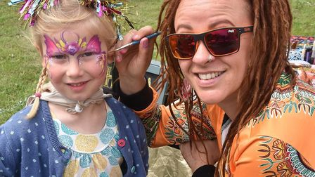 Face painting at Walsworth Festival. Picture: Alan J Millard