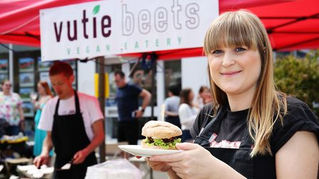 Vutie Beets vegan eatery at the Letchworth Food and Drink Festival. Picture: DANNY LOO