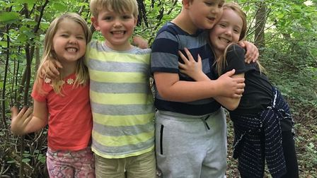 Rocky (third from left) with his siblings Sienna, Joshua and Yasmin. Picture: Zoe Bell.