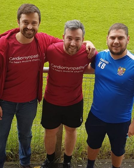 Organiser Keith Bell (right) with Ben Cole (centre). Picture: Christie Jones