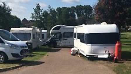 Travellers on Butts Close, Hitchin. Picture: Haylee Lederer