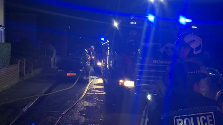 """There was a """"significant house fire"""" in Hitchin last night. Picture: Lee Slipanczewski"""
