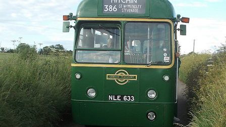 One of the vintage buses that will run between Hitchin, Stevenage, Herttford and Welwyn Garden City