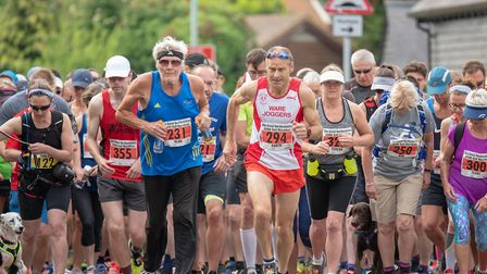 Participants had the choice of a marathon, half marathon or 10k run in aid of the hospice. Picture: