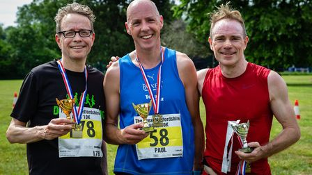 First, second and third place runners. Picture: Jeremy Lintott