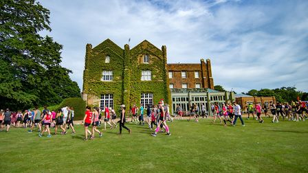 The event started and finished at Offley Place Country Hotel. Picture: Martin Wootton