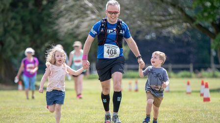 There was also a fun run for children at the event on Sunday. Picture: Martin Wootton