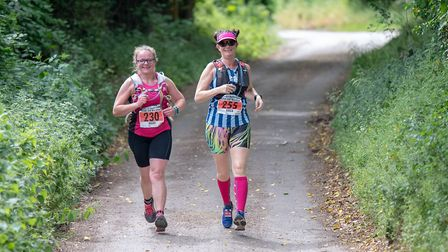 Runners tackled the scenic route around Pegsdon and Barton Hills. Picture: Martin Wootton