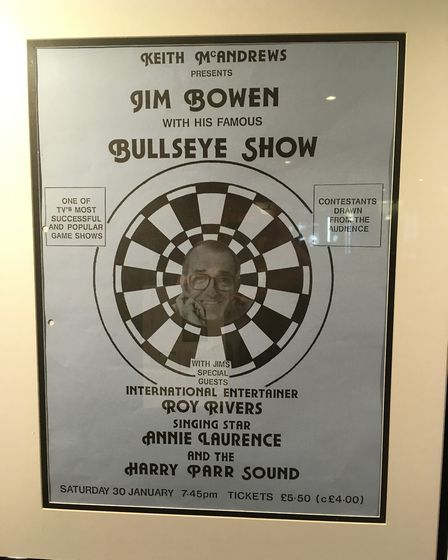 The Stories From The Gordon Craig exhibition features a poster from Jim Bowen's Bullseye Show in Ste