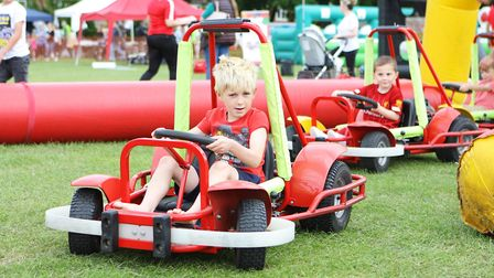 Marcus, 7, enjoys the buggy ride.Picture: Karyn Haddon